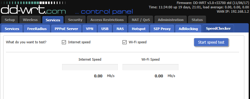 Wi-Fi Speedchecker feature for DD-WRT