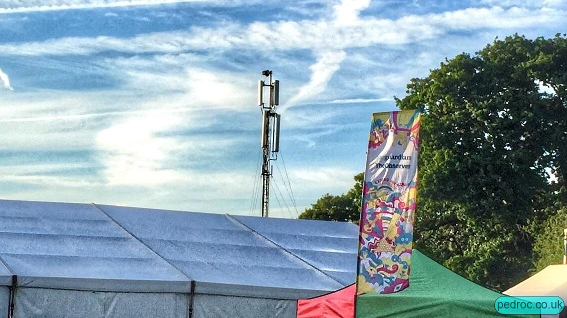 Photo of EE Temporary mast at Glastonbury
