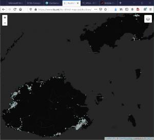 Map showing Fiji, 17 Dec 2020 (4,101 datapoints)