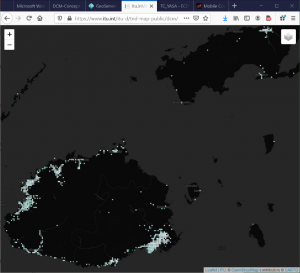 Map showing Fiji, 18 Dec 2020 (7,919 datapoints)