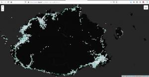 Map of Fiji SpeedChecker data, point grid @ 1 sq.km.